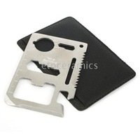 100pcs/Lots New Multifunction Camp Survival Credit Card Tool 10 in 1,Survival card tool--EMS Free