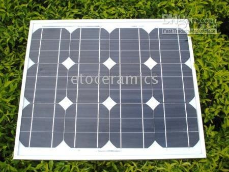 2pcs/Lots 30W Monocrystal Solar Panel 12V battery charger (10W 20W 40W 60W 100W) A CLASS(China (Mainland))