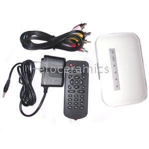 50pcs/lot NBox HDTV Multimedia Player HD RMVB RM AVI w/ Remote Wholesale retail