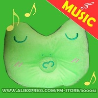 Freeshipping_10pieces/lot music Kids And Womens Bed Pillows Bedding & Curtain White New Fashion frog MP3/Mp4_goodgift