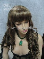 wholesale Wigs 5pcs/lot No.19 Beautiful long brown made hair women's wig/wigs Synthetic