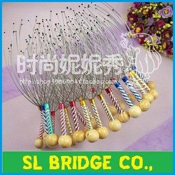 Free Shipping Gold Head Neck Scalp Massager Massage Stress Release Head Massager High quality   F11249SL