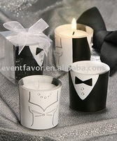 Fashion Bride and Groom cup wedding candle Wedding Party Engagement Anniversarty Valentine's day favors