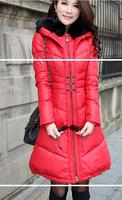 2014 thickening fur collar down coat medium-long female slim women's outerwear female snow wear winter outcoat