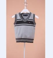 Children's clothing vest male child vest sweater vest cotton thread male female child sweater