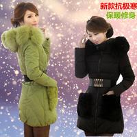 2014 women's female medium-long down coat thickening wool collar slim outerwear winter thermal snow wear duck down coat