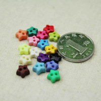 6MM Mix color Packing Mini Buttons Small Star  Buckle Mini Resin Buttons color random  delivery 200PCS/BAG