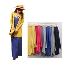 2014 Europe Brand Women's Clothing Medium-long Air Conditioning Shirt Modal Cotton Shoulder Width Top Thin Cardigan Open Stitch