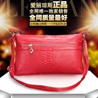 Free shipping 2014 genuine leather clutch handbag women's Crocodile cowhide cross-body small one shoulder bag messenger bag