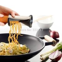 Kitchen spiral slicer spiral funnel cutting  tool.vegetables slicer