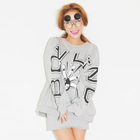 2014 autumn personality letter bowling fashion sweatshirt long-sleeve top cardigans casual women coat desigual sweater pullover