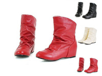 2014 New Autumn And Spring Women Boots, Eevator Shoes Inside Ankle Boots Plus Big Size With Shoes Box