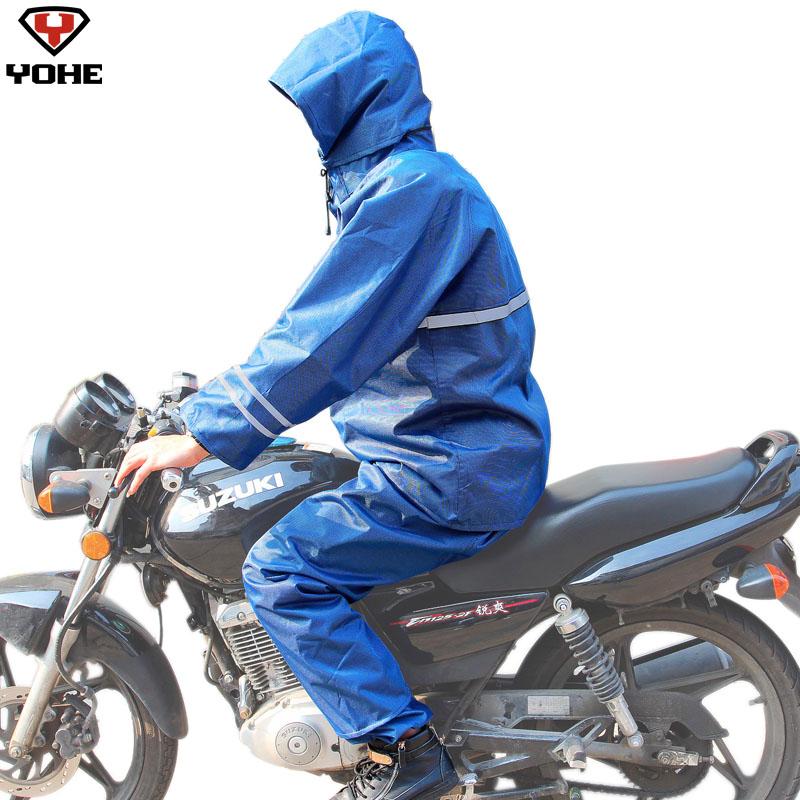 Вечной электрический велосипед пончо мода сплит дождь одежда утолщение дождь брюки плащ комплект yh-y3