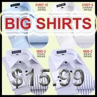 2014 6xl male autumn plus size long sleeve shirt white formal striped shirts spring men cotton dress big size camisa masculina