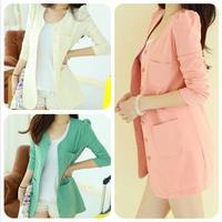 Womens Blazer Terno Feminino New 2014 Women Cardigans Coat Candy Color Jackets Suit Slim Ladies Blazers Work Wear Blaser