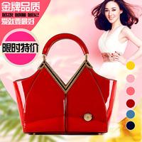 Ladies ol 2014 women's japanned leather handbag genuine leather commercial red bridal handbag banquet bag