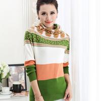 2014 winter heap turtleneck sweater basic shirt thickening sweater outerwear female