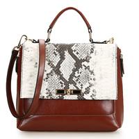 new arrival genuine leather snakeskin pattern women fashion handbags,elegant cowhide shoulder bags multifuctional 0499
