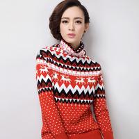 2014 winter thickening heap turtleneck sweater female sweater thickening basic shirt sweater female