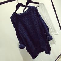 Fashion loose long-sleeve women's thickening knitting sweater