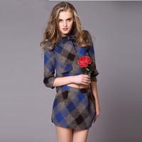 New arrive European and American fashion brand elegant skirt set, autumn and winter ladies clothes set,plaid woolen coat+ skirt