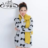 2014 autumn women's cashmere large loose basic shirt female long-sleeve T-shirt Women