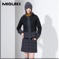 Misun 2014 women's fabric patchwork square down skirt