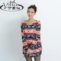 2014 autumn long-sleeve cardigan shirt long-sleeve plus size clothing elegant autumn and winter long sweaters
