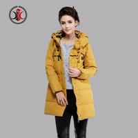 2014 medium-long print fashionable casual slim with a hood down coat female