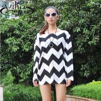 Medium-long basic shirt all-match women's plus size female plus size loose 2014 autumn and winter sweater