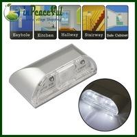 PIR Infrared Detection Motion Sensor Home Door Keyhole Light Lamp with 4 LED