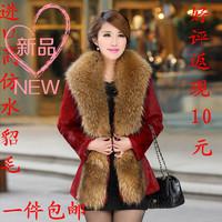 2014 faux female outerwear winter women's medium-long imitation mink slim waist slim