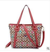 2014 women's print fashion handbag one shoulder cross-body handbag women's big bag