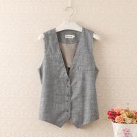 Small fresh fluid stripe sweet casual all-match female vest outerwear vest female