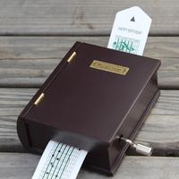 Guoshi hand-cranked wooden tape books music box birthday gift christmas gift