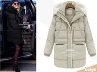 2014 Plus Size Clothing Thickening Winter Warm Down Coat Slim Thickening Down Coat Overcoat Cotton-padded Lamb Fashion Jacket