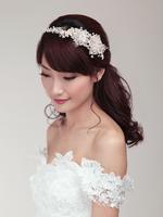 New silk yarn flower handmade bride wedding accessories hair bands
