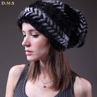 Mink hair hat female winter marten velvet hat marten winter hat sphere ear thermal quinquagenarian cap