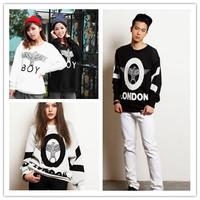 Bi for gba ng gd boy london eagle pattern long-sleeve fleece sweatshirt