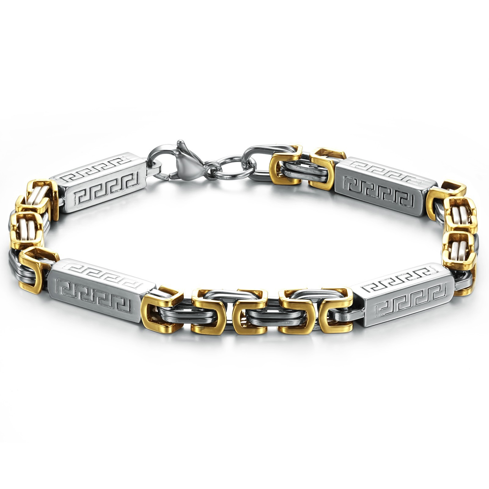 Fashion personality gold Men titanium bracelet gs632(China (Mainland))