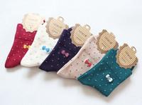 Socks female 100% cotton socks knee-high socks women's embroidery combed cotton socks boneless
