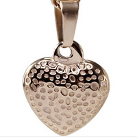 2014 Floating Charms 14k Jewelry FOR WOMEN  Love Heart 3d miniature Leopard print pendant Rose Gold Pendant Necklaces For female