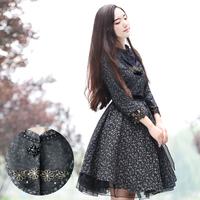 [LYNETTE'S CHINOISERIE - YHT ] Autumn Original Design Women Plus Size Organza Patchwork Slim Print Trench Sz S M L XL XXL XXXL