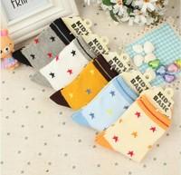 Cartoon children socks combed cotton 100% kid's cotton socks male socks knee-high socks spring and autumn