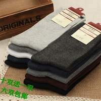 Men's socks summer 100% thin cotton socks male 100% anti-odor knee-high cotton business casual sports