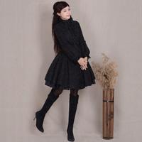 [LYNETTE'S CHINOISERIE - YHT ] Winter Autumn Women Plus Size Vintage Elegant Slim Woolen Overcoat Outerwear Sz S M L XL XXL XXXL