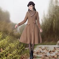 [LYNETTE'S CHINOISERIE - YHT ] Autumn Original Women Plus Size Vintage Elegant Woolen Outerwear Overcoat Sz S M L XL XXL XXXL
