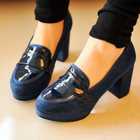 2014 Spring Casual Women's Shoes Thick Heel Shoes Fashion High heeled Shoes Single Shoes for Spring Sweet Cute Free Shipping