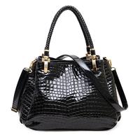 Stone pattern 030 japanned leather shiny women's handbag 2014 bags quality female shoulder bag messenger bag