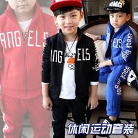 Spring Autumn New Hot children's clothes set child pants +Zipper Sweatshirts Thicker fleece twinset unisex letter sports suits